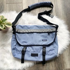 Patagonia Vintage Messenger Laptop Bag Light Blue